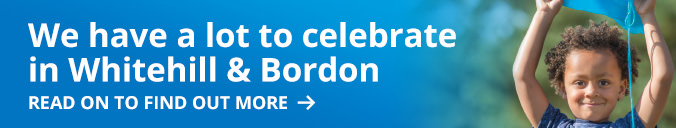 We have a lot to celebrate in Whitehill & Bordon, read on to find out more