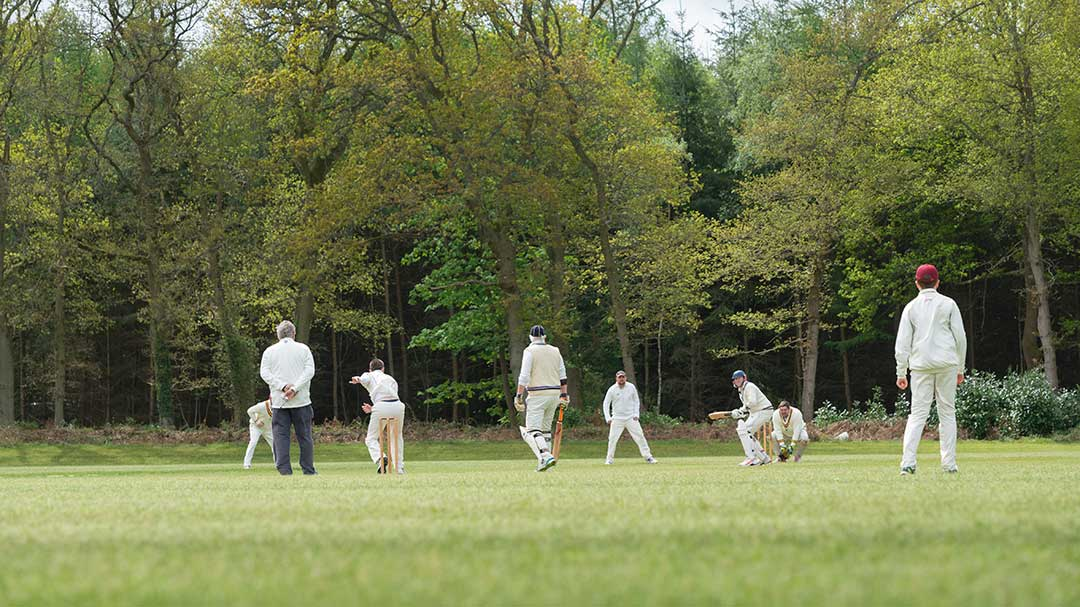 First cricket match at BOSC in the middle