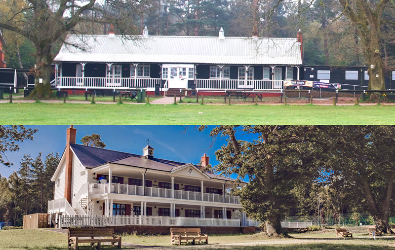 Cricket Pavilion before and after